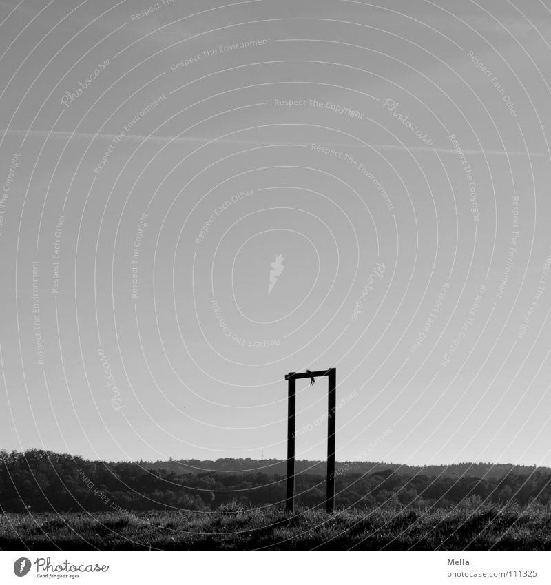baumlos Himmel weiß Baum Einsamkeit schwarz Ferne Tod oben Wege & Pfade grau Traurigkeit Luft Linie hoch Luftverkehr leer