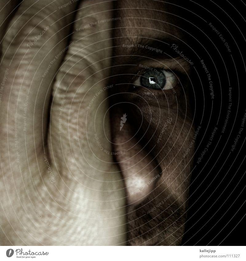 eyes wide shut Mensch Mann Hand blau Auge Leben Haare & Frisuren Haut Bart Lebewesen Falte Sinnesorgane Sommersprossen Wimpern Augenbraue Linse