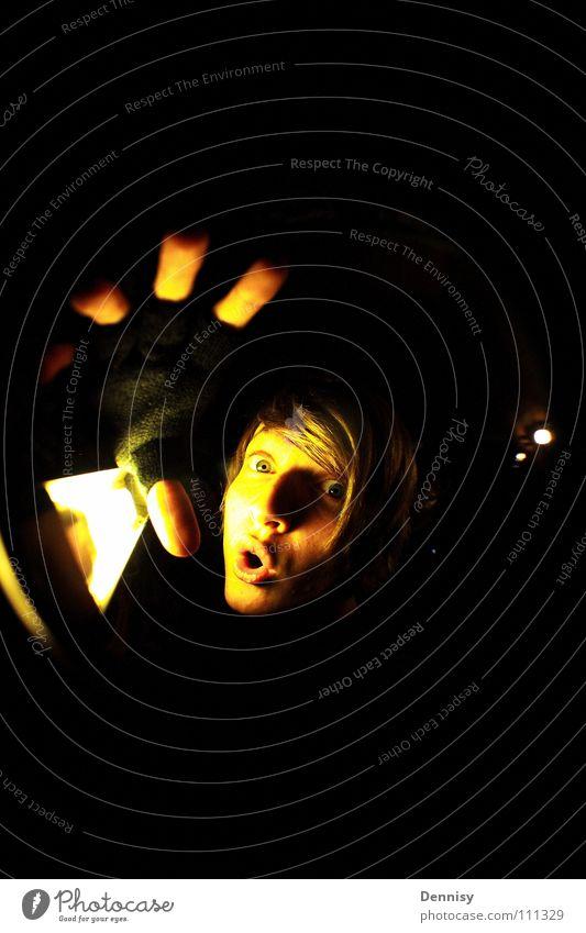 ||||| O Lampe Licht Handschuhe Finger Raum Schrecken Langeweile oh Gesicht Haare & Frisuren Beleuchtung Auge