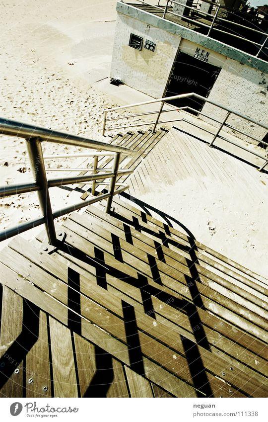 coney island 6 Amerika New York City Küste Meer Strand aufsteigen Beton Holz Physik Weitwinkel Sommer Treppe Schatten Abstieg Wärme canon 17mm