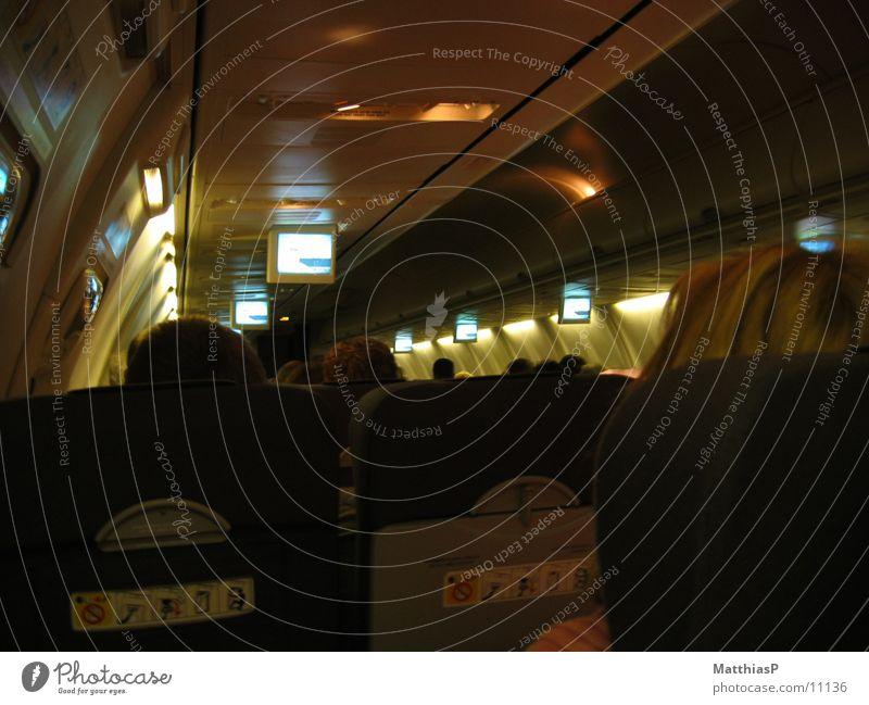 Boeing 737 - 800 (innen) Flugzeug Bildschirm Innenaufnahme TFT-Bildschirm