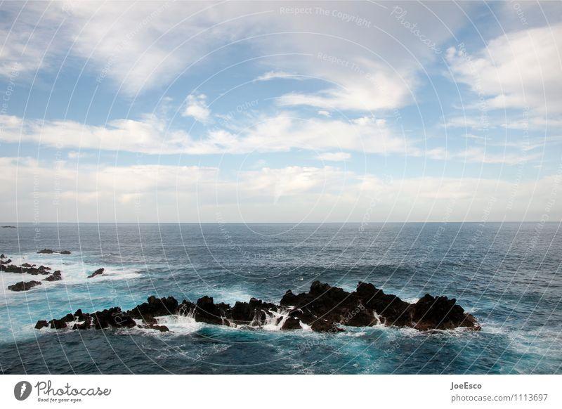 #1113697 Ferien & Urlaub & Reisen Abenteuer Ferne Freiheit Meer Insel Wellen Himmel Wolken Felsen Vulkan Küste Seeufer bedrohlich dunkel frei kalt blau Ausdauer
