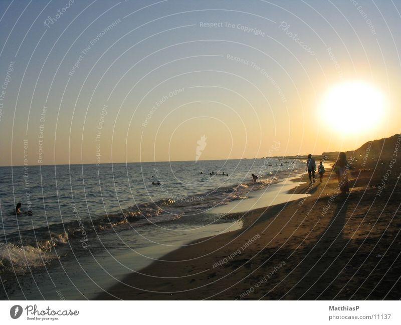 Sonnenuntergang II Meer Sommer Strand See Sand Küste Europa Türkei Süden