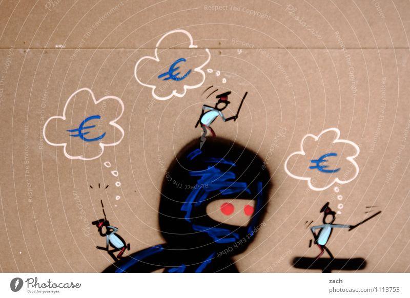 Euroninjas Wirtschaft Handel Kapitalwirtschaft Börse Geldinstitut Mann Erwachsene Fassade T-Shirt Mütze Helm Zeichen Graffiti Eurozeichen Dollarzeichen bezahlen