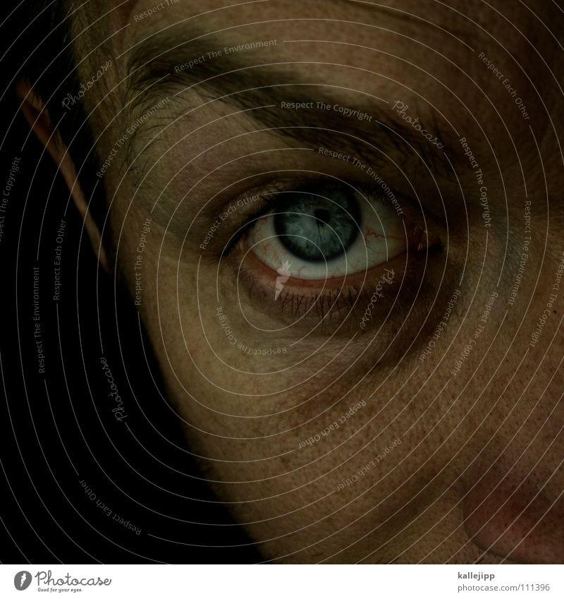 wie siehst du denn aus, alter? Pupille Wimpern Augenbraue Organ Sinnesorgane Sommersprossen Pore Optiker Mann Hand Bart Lebewesen ich my Haut Haare & Frisuren