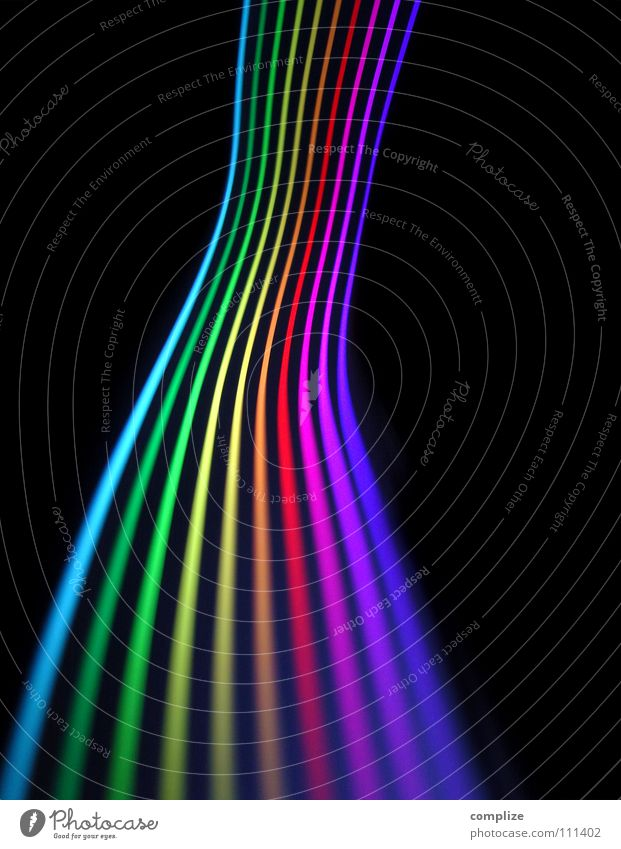 farbspektrum 04 blau grün Farbe schwarz Straße Beleuchtung Lampe hell Hintergrundbild Kunst Musik glänzend Verkehr Geschwindigkeit Zukunft Elektrizität
