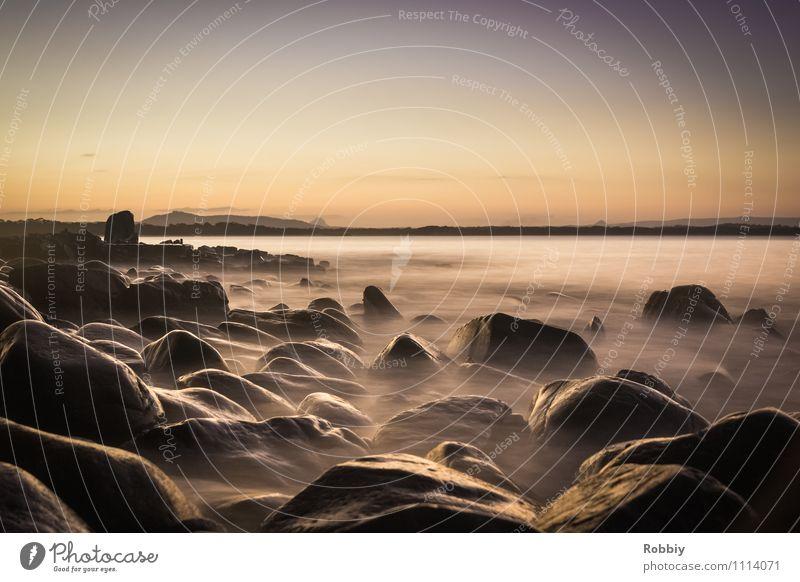 vagues de l'océan Natur Ferien & Urlaub & Reisen Wasser Meer Landschaft Küste Stein Horizont Idylle Nebel Wellen Tourismus Abenteuer Seeufer Bucht