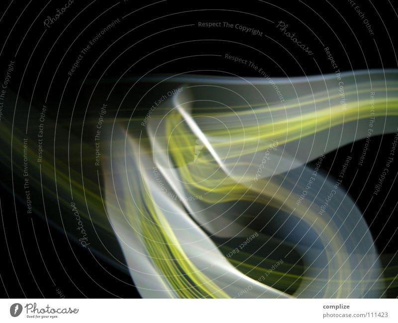 Rausch 02 Rauschmittel LSD Streifen Licht zart elektronisch Lichtschlauch Schlauch schwarz virtuell online violett grün Unschärfe Langzeitbelichtung Belichtung