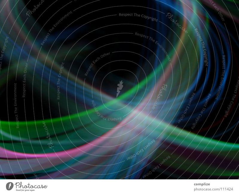 Rausch 03 blau grün Farbe schwarz Beleuchtung Hintergrundbild Kunst Lampe hell glänzend Verkehr Musik Technik & Technologie Geschwindigkeit fantastisch Zukunft