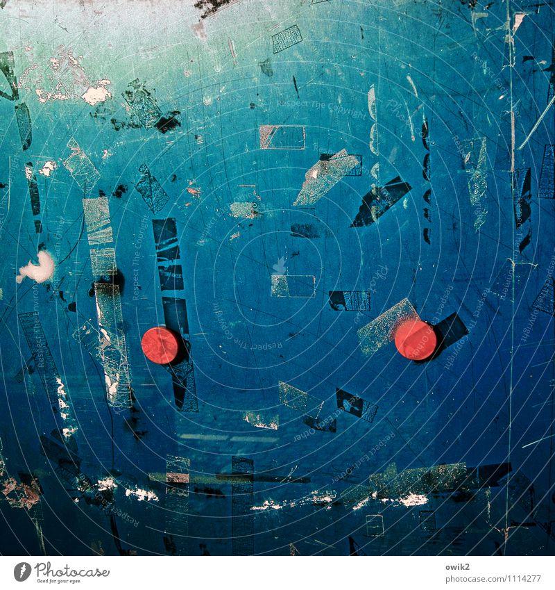 Bring back my Bonnie to me Magnet Schwarzes Brett Glasscheibe rund trashig verrückt blau rot türkis Verfall Vergänglichkeit 2 Kunststoff Klebeband Kratzer Rest