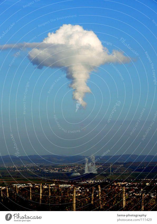 Strahlendes Wetter verstrahlt Kernkraftwerk Strahlung nuklear Elektrizität Umweltverschmutzung Saurer Regen Abgas Kohlendioxid Baden-Württemberg Verdunstung