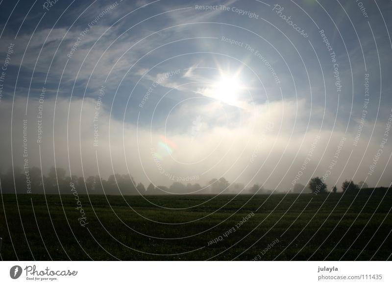 thunder Nebel Morgen Wolken Sonne friedlich ruhig Himmel