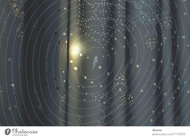 Vorhang auf! (500... Wohnung Innenarchitektur Dekoration & Verzierung Gardine Stoff Stoffmuster Stern (Symbol) Symbole & Metaphern Punkt Punktmuster Lochmuster