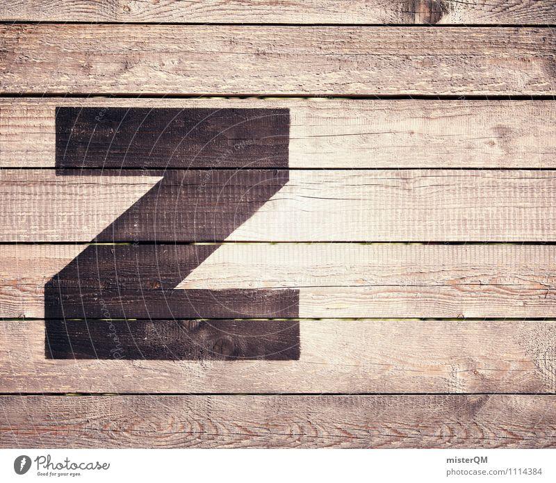 Z wie... Kunst ästhetisch Buchstaben Zoo Sprache Symbole & Metaphern Zaun Beschriftung Typographie Lateinisches Alphabet Farbfoto Gedeckte Farben Außenaufnahme