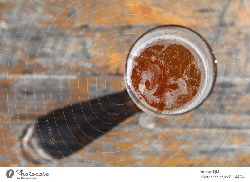 Reinheitsgebot. Lebensmittel Getränk Alkohol Bier Glas ästhetisch Bierglas Durst Bierschaum Biergarten Außenaufnahme Mittagspause Farbfoto Gedeckte Farben