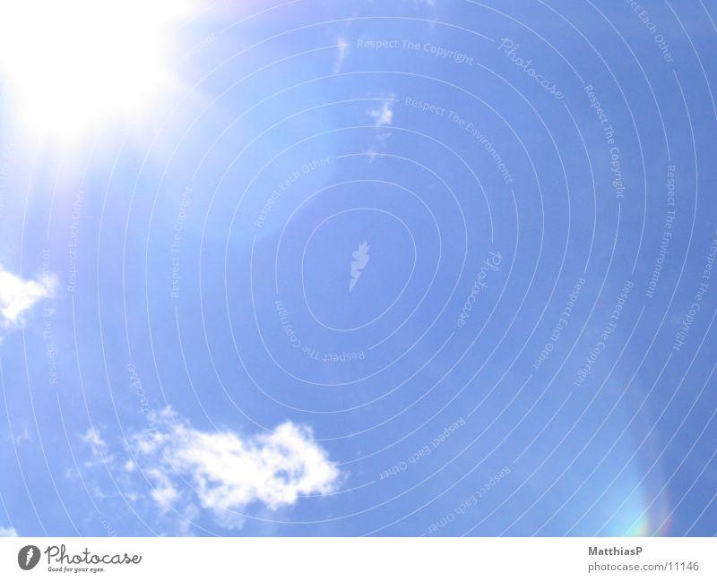 blauer Himmel Wolken Sommer Sonne 2004 Weltall