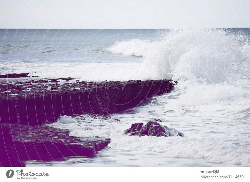 tosen Umwelt Natur Urelemente Wasser Klima Klimawandel ästhetisch Gischt Meer Wellen Küste rau Farbfoto Gedeckte Farben Außenaufnahme Detailaufnahme Experiment