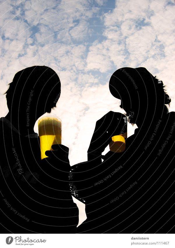 golden water Himmel weiß schwarz Wolken Getränk trinken Bier Konzert Alkohol