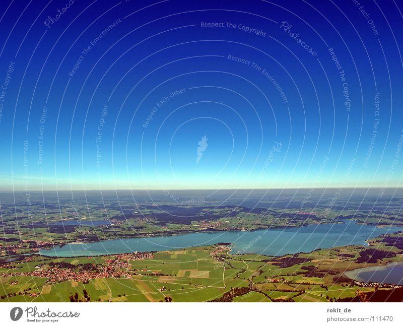 Bis zum Horizont... Allgäu Tegelberg Gleitschirm Forggensee Bayern grün wandern Segeln Aussicht Seilbahn Freude Berge u. Gebirge Extremsport startplatz fliegen