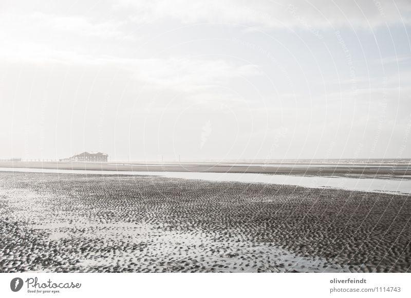 St. Peter Ording 2 Ferien & Urlaub & Reisen Ausflug Abenteuer Ferne Freiheit Sonne Strand Meer Umwelt Natur Landschaft Sand Wasser Himmel Wolken Horizont