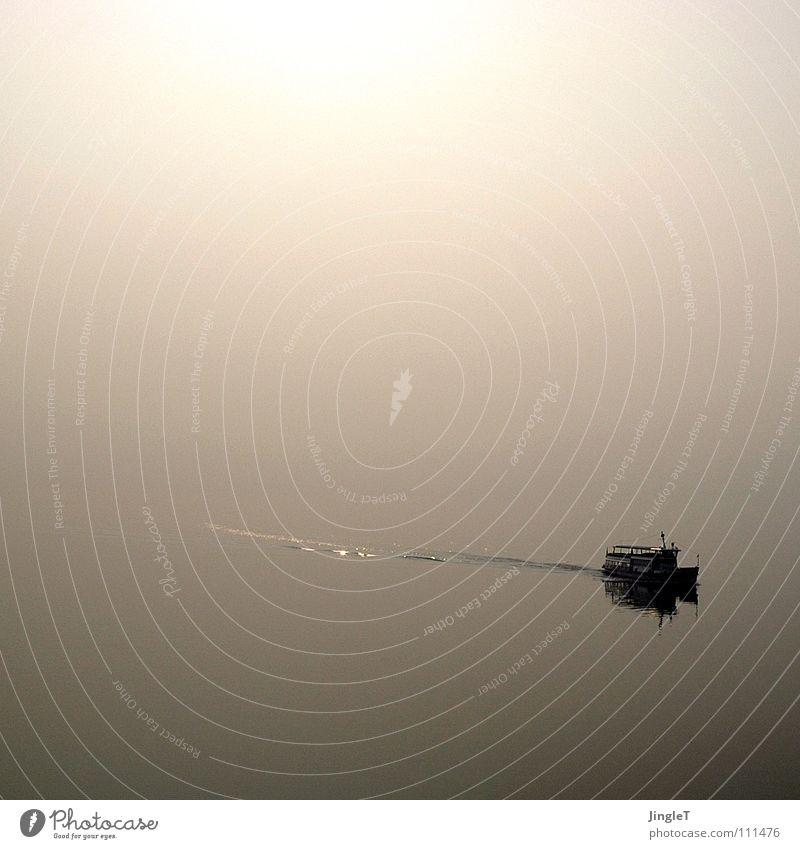 Stille See Morgen Italien Cannero Riviera Fähre Nebel Unendlichkeit ruhig Stimmung Erholung genießen Erinnerung sentimental Lago Maggiore norditalien lumio