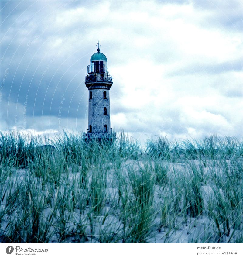 Harald Natur Himmel Meer Sommer Strand Ferien & Urlaub & Reisen Erholung Gras See Sand Landschaft Luft Küste Sicherheit Turm DDR
