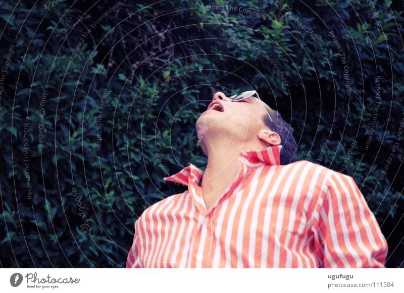 Aaagggghhh Mensch Mann rosa T-Shirt fallen