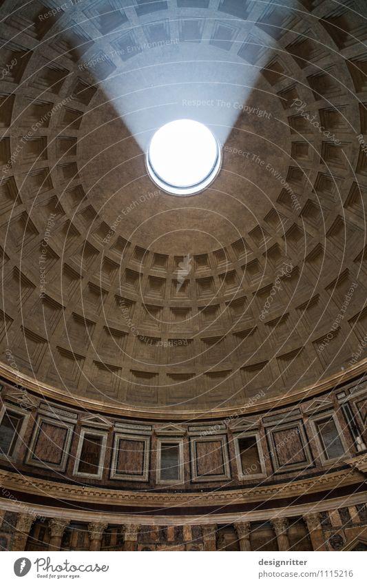 Dank photocase das hier: Lichtblicke Rom Italien Kirche Dom Bauwerk Gebäude Architektur Tempel Decke Gewölbe Gewölbebogen Sehenswürdigkeit Pantheon dunkel