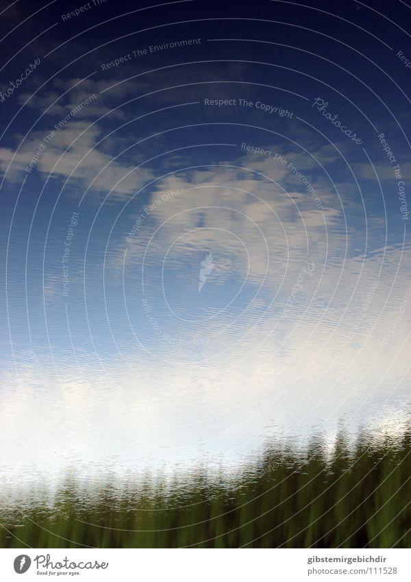 Himmel gekräuselt Wasser Himmel blau Sommer Wolken See Wellen Küste Hintergrundbild Wind Frieden Kräusel