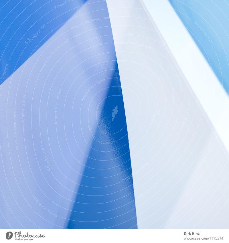 aufstrebend Stahl Zeichen blau grau weiß elegant Stil Design Gebäude Architektur Linie ästhetisch außergewöhnlich eckig einfach einzigartig Präzision