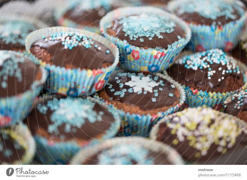 Nachschlag? blau grün weiß Essen Feste & Feiern braun Lebensmittel Party Design Geburtstag genießen weich süß lecker Süßwaren Appetit & Hunger