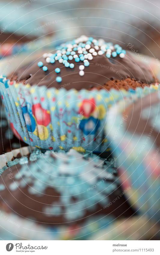 Schokomuffins II Lebensmittel Teigwaren Backwaren Kuchen Dessert Süßwaren Schokolade Ernährung Essen Kaffeetrinken Muffinsbackformen Stil Design