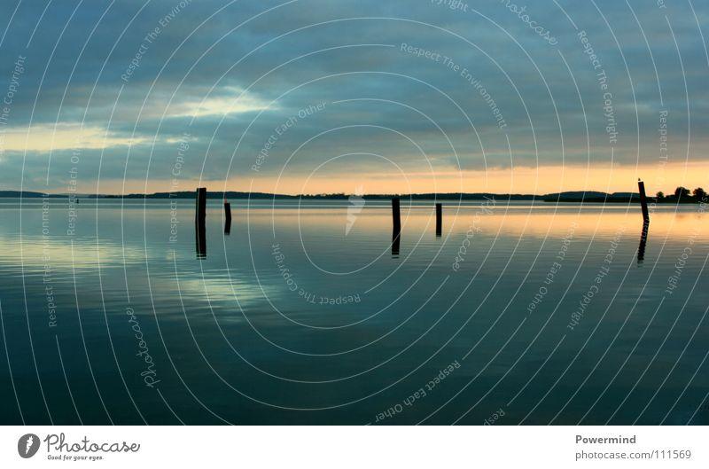 SonnenMondSchein Natur Ferien & Urlaub & Reisen Meer ruhig Erholung Landschaft Küste Horizont Ausflug Europa rein Bucht Ostsee Glätte Lichtspiel Seele