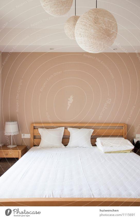 das komfortable, schöne, schöne Schlafzimmer Lifestyle Design Innenarchitektur Möbel Bett Raum Mauer Wand Dekoration & Verzierung einfach elegant Freundlichkeit