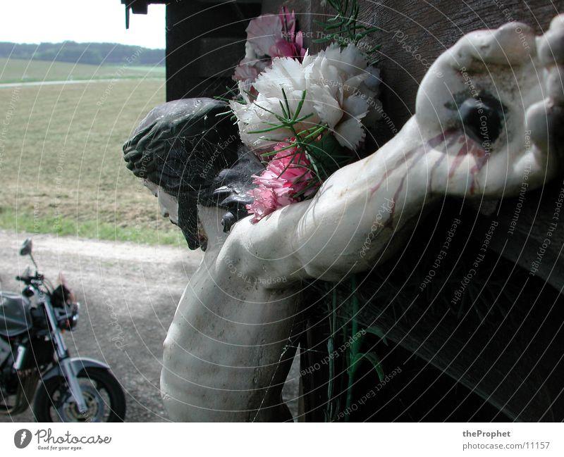 Jesus Christ want to ride a bike Jesus Christus Motorrad historisch Rücken