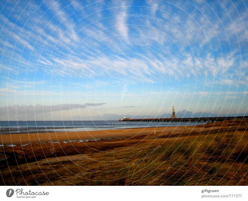 herbstlandschaft II Natur Himmel Meer Strand Wolken Herbst Sand Landschaft Küste Vergänglichkeit Jahreszeiten Nordsee November Oktober schlechtes Wetter herbstlich