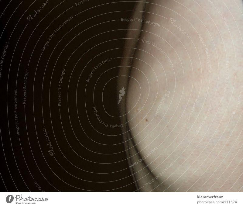 Kurven Mensch Spielen Körper Haut Stoff Kurve Leberfleck