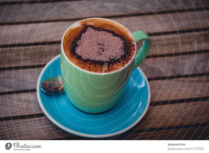 Mit Herz Wasser Sommer Erholung Freude Gesundheit Zufriedenheit Lächeln genießen Schönes Wetter einzigartig Kultur trinken Duft Restaurant Tasse Schokolade