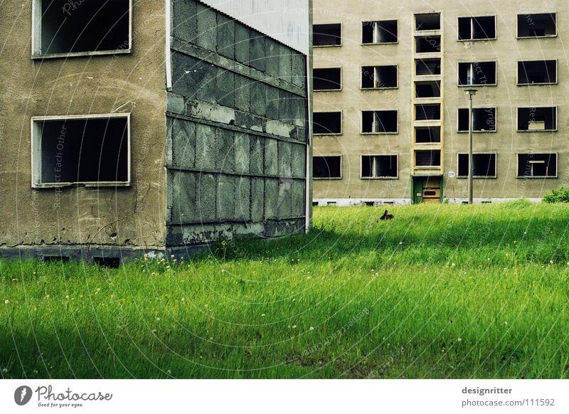 Präteritum Haus Einsamkeit Leben Tod Fenster leer Vergänglichkeit verfallen Verfall Vergangenheit vergangen live Plattenbau Armee Militärgebäude Wohnhochhaus