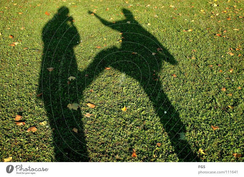 Kung Fu Fitghting #3 Mensch schön Sonne grün Freude Blatt Sport Wiese Herbst Spielen Gras Wärme 2 Feste & Feiern lustig gehen