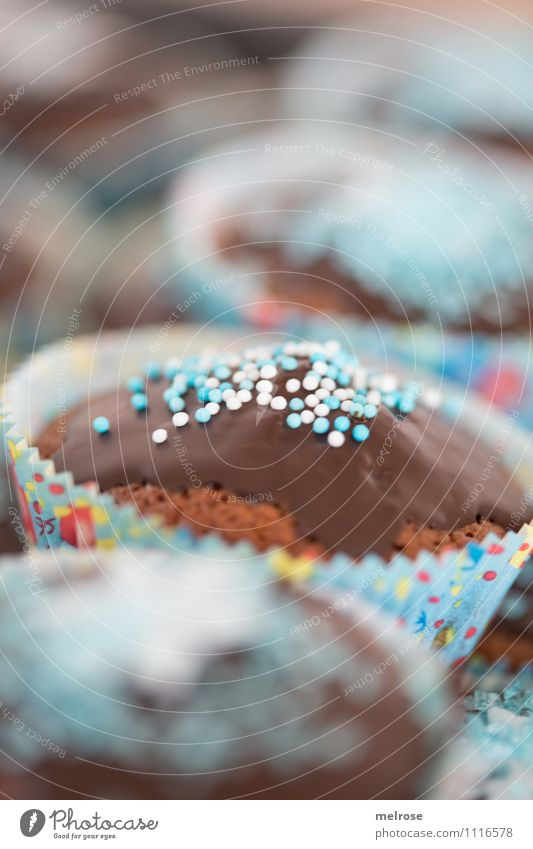 Happy Börsday Lebensmittel Süßwaren Muffin Schokoglasur Zuckerstreusel Essen Feste & Feiern Geburtstag Geburtstagsmuffins genießen einzigartig lecker saftig süß