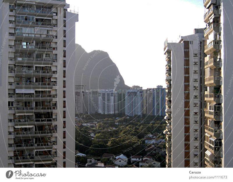 Hochhaus Hotel Haus Rio de Janeiro Ferien & Urlaub & Reisen Brasilien Sommer Gebäude Balkon Tourismus Strand Physik Morgen Küste hoch Aussicht Holidays Wärme