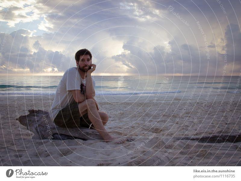 oooh sitzt ihr daheim im regen? Ferien & Urlaub & Reisen Jugendliche Sommer Erholung Meer Einsamkeit Junger Mann ruhig Strand Ferne Erwachsene Leben Freiheit