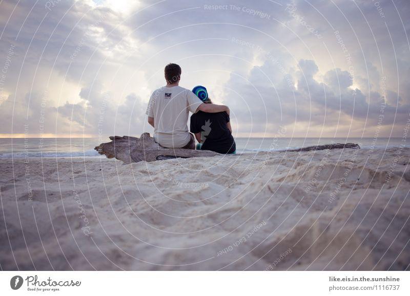zusammen ist man weniger allein Mensch Ferien & Urlaub & Reisen Sommer Meer Strand Ferne Leben Liebe feminin Glück Freiheit Paar Freundschaft maskulin