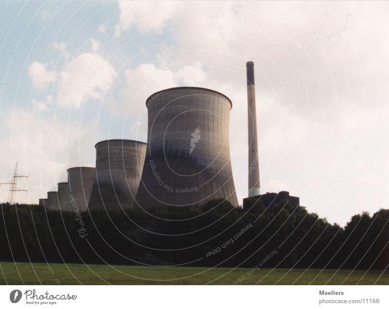 Kraftwerk Ruhrgebiet Industrie Schornstein Natur Kontrast