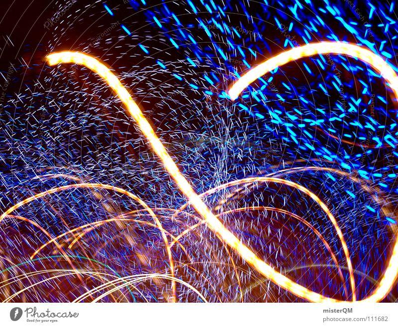 blue universe VI Licht dunkel Zukunft verrückt schwarz Kunst Composing Nacht außerirdisch Spielen Langeweile Hintergrundbild Vordergrund Insekt erleuchten Lampe