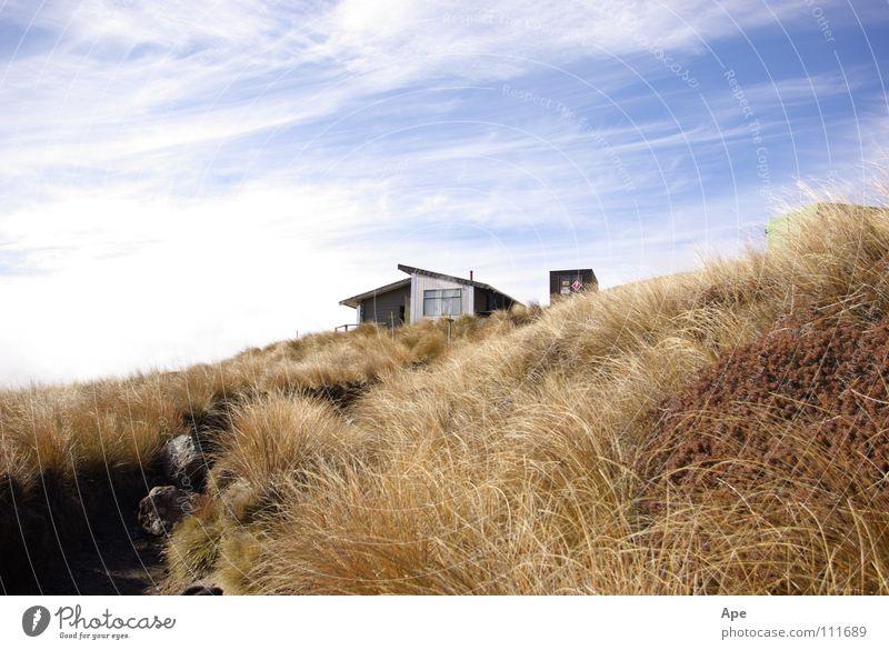 Wurde auch Zeit! Unterkunft Neuseeland wandern Steppe Himmel Wolken Berge u. Gebirge Australien Hütte Schutz Tongariro Wind Hut Shelter Crossing Sky Clouds