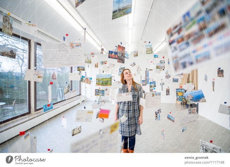 Mail-Art-Projekt Mensch Jugendliche Junge Frau Ferne Reisefotografie Leben feminin Spielen Freiheit fliegen Kunst Lifestyle Freizeit & Hobby Zufriedenheit