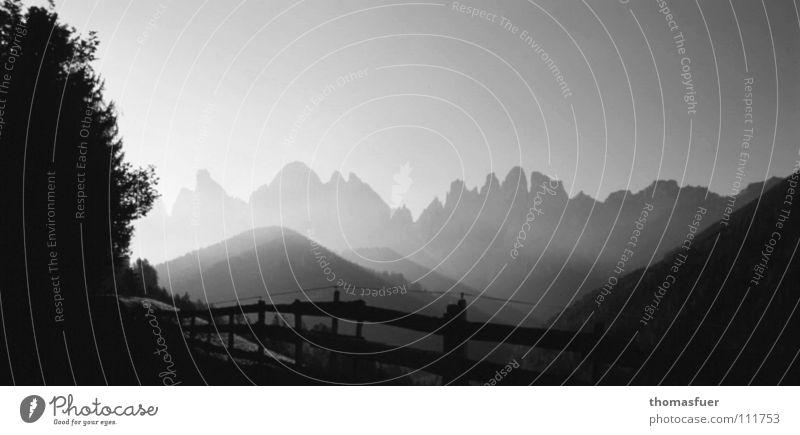 Ruhe schön Freude ruhig Ferne Berge u. Gebirge Denken Angst Nebel Hoffnung Alpen