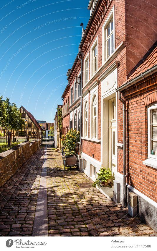 Ferien & Urlaub & Reisen Stadt blau schön Farbe Sommer Blume Haus Straße Architektur Wege & Pfade Gebäude Lifestyle Fassade Wohnung Idylle